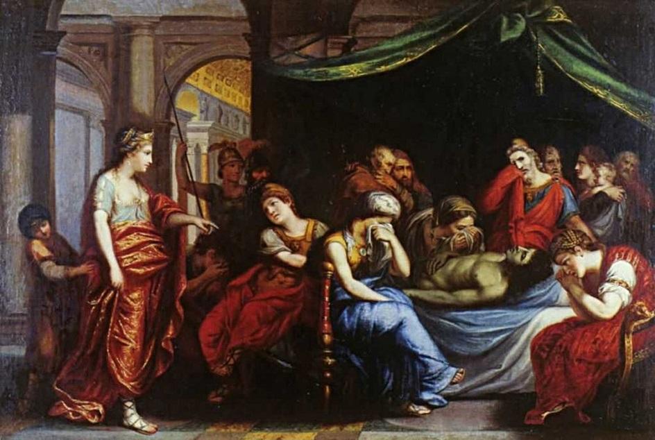 Александр Витберг. Картина «Андромаха, оплакивающая Гектора», 1809