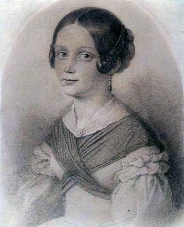 Александр Витберг. Рисунок «Портрет Евдокии Викторовны Витберг», 1830-е