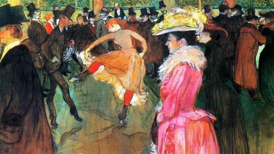 Анри Тулуз-Лотрек. Картина «В Мулен Руж», 1892