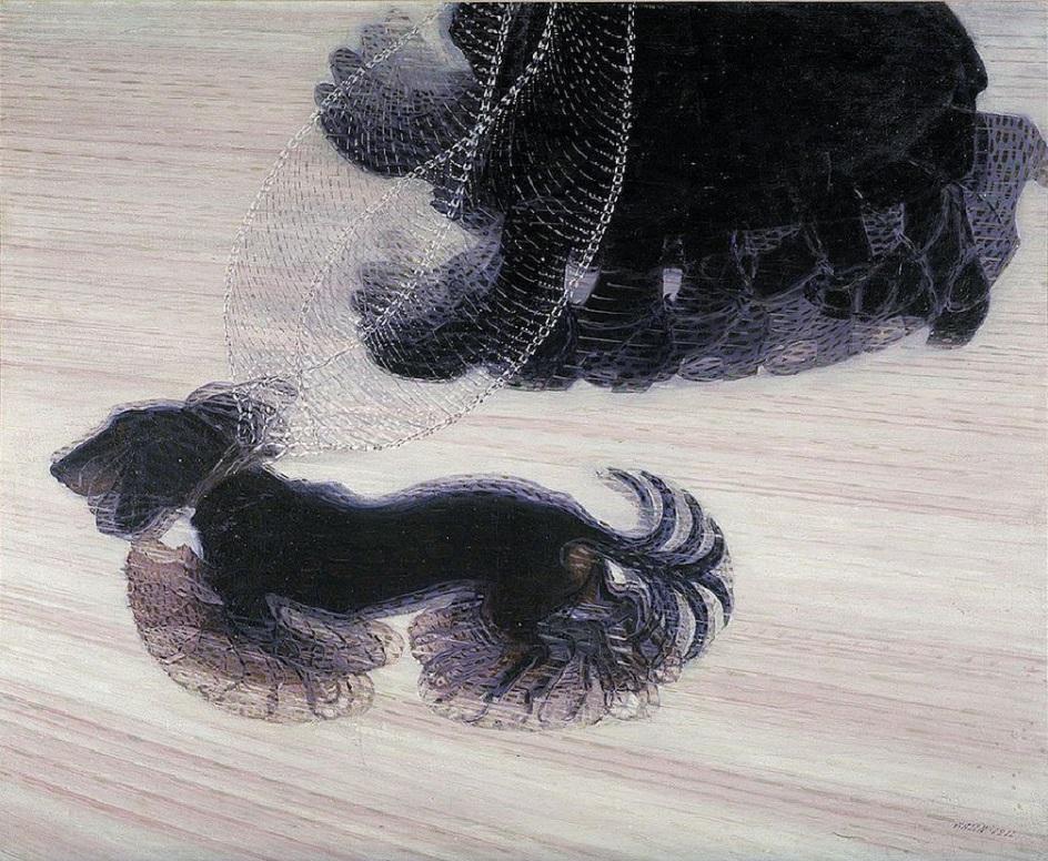 Джакомо Балла. Картина «Динамизм собачки на поводке», 1912