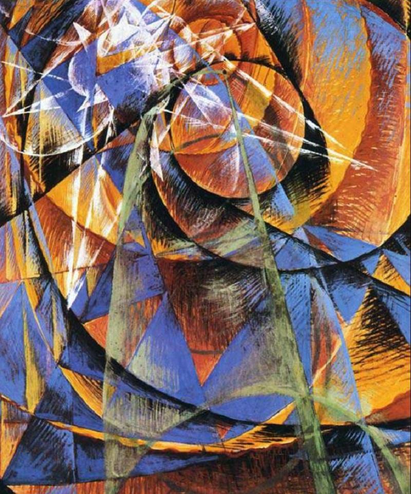 Джакомо Балла. Картина «Проход Меркурия перед Солнцем», 1914