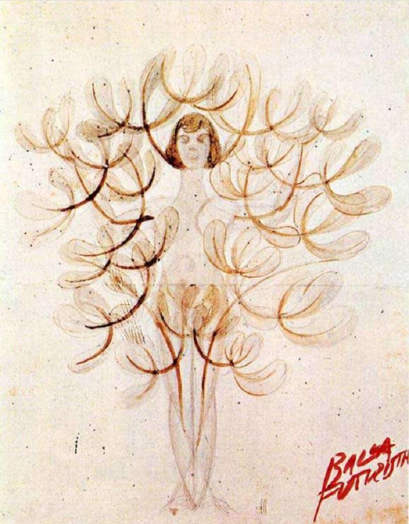 Джакомо Балла. Картина «Девушка-дерево», 1915