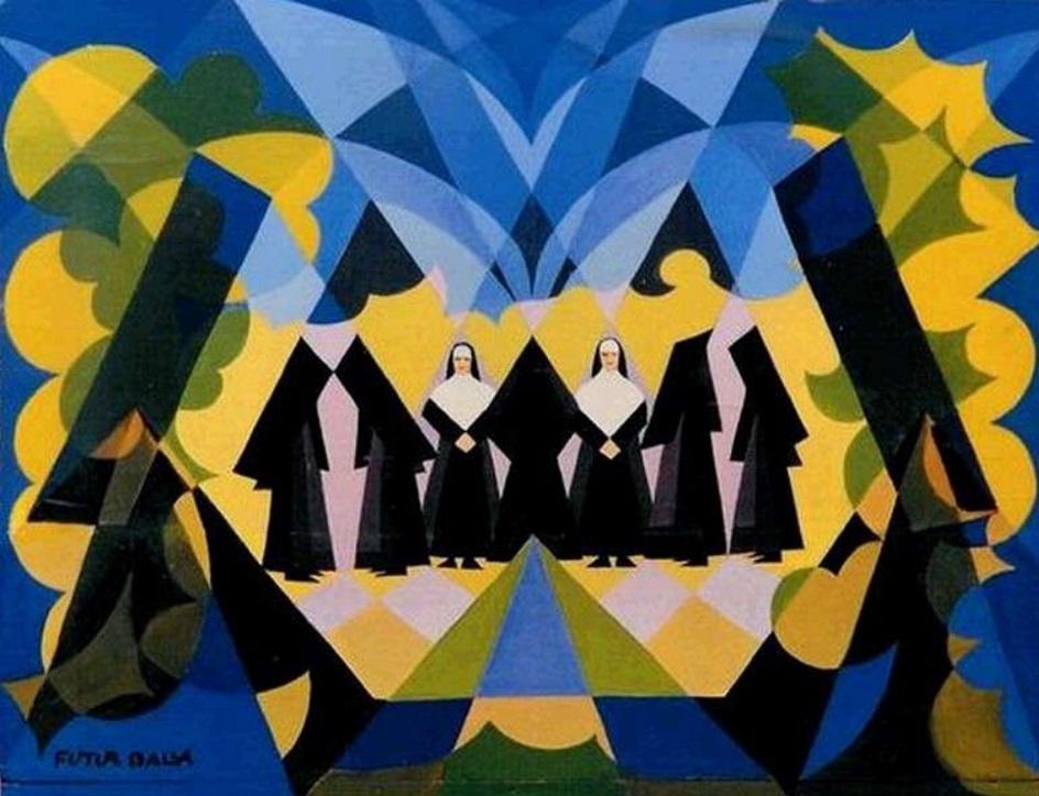 Джакомо Балла. Картина «Монахини», 1925