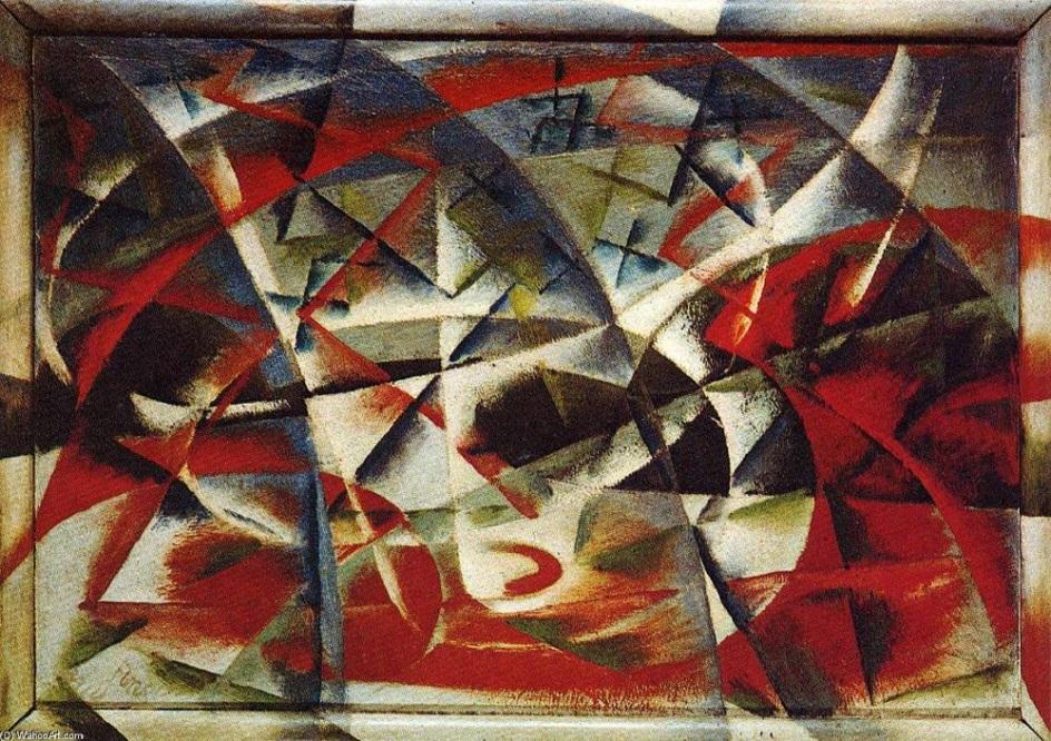 Джакомо Балла. Картина «Абстрактная скорость + звук», 1913-1914