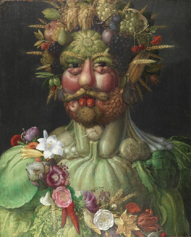 Джузеппе Арчимбольдо. Картина «Портрет императора Рудольфа II в образе Вертумна», 1590