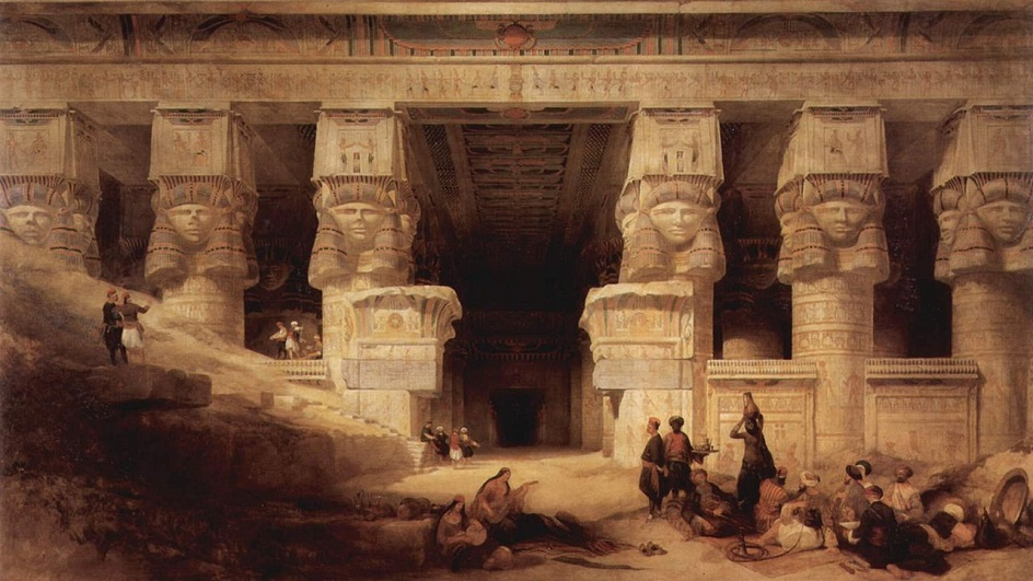 Дэвид Робертс. Картина «Храм в Дендере», 1841