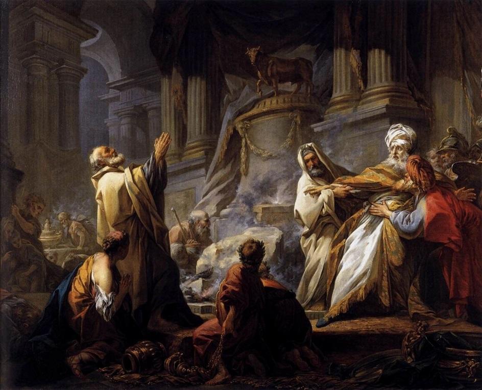 Жан-Оноре Фрагонар. Картина «Иеровоам приносит жертву идолам», 1752