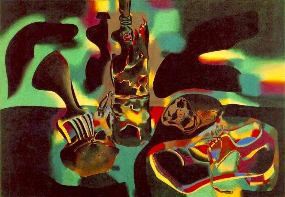 Жоан Миро. Картина «Натюрморт со старым ботинком», 1937