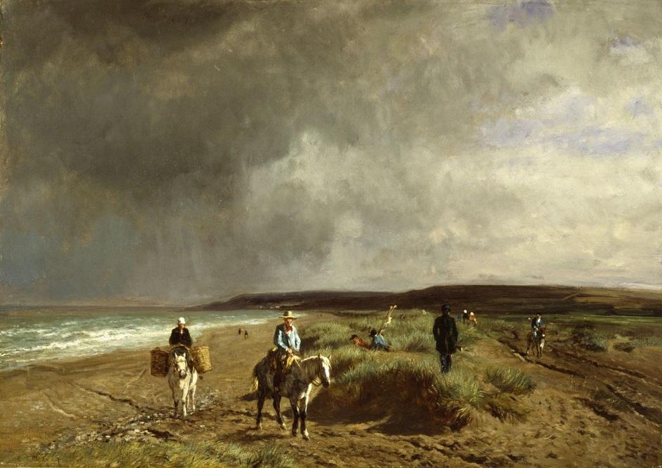 Констан Тройон. Картина «Побережье близ Виллера», 1859