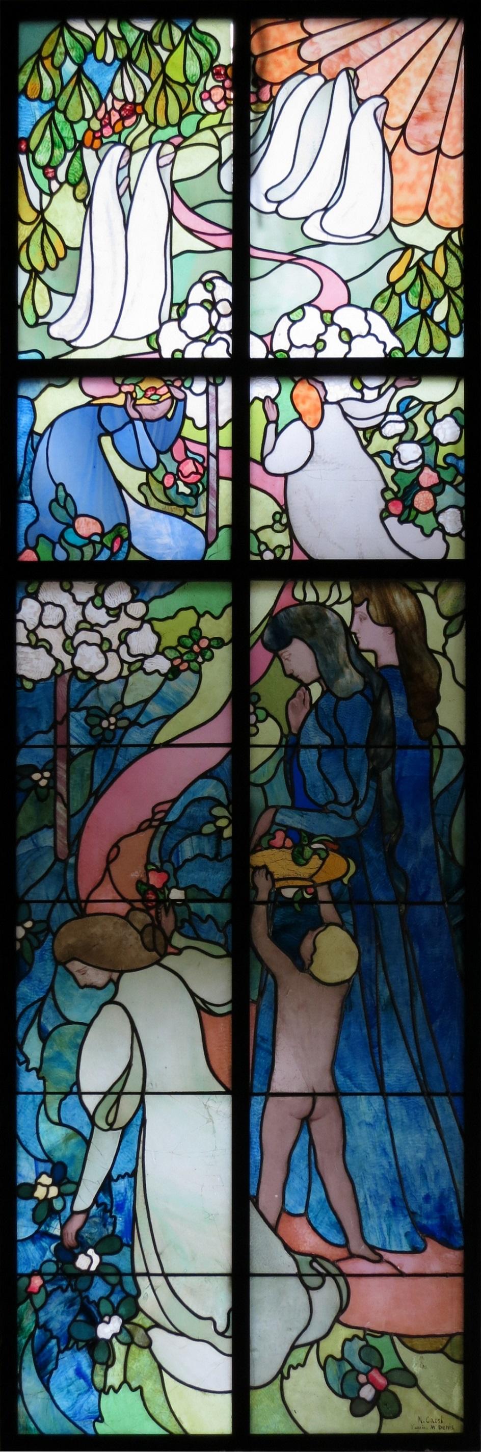 Морис Дени. Витраж «Путь к жизни», 1895