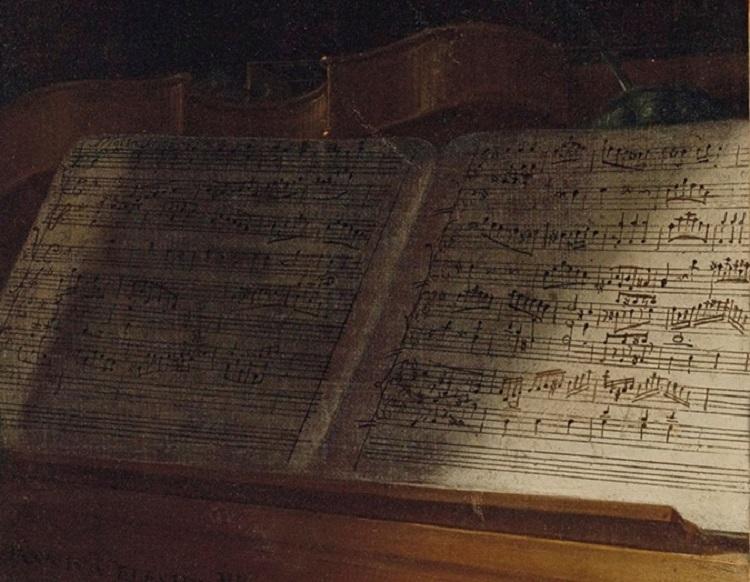 Портрет юного Моцарта. Неизвестное музыкальное произведение, возможно написанное юным Моцартом