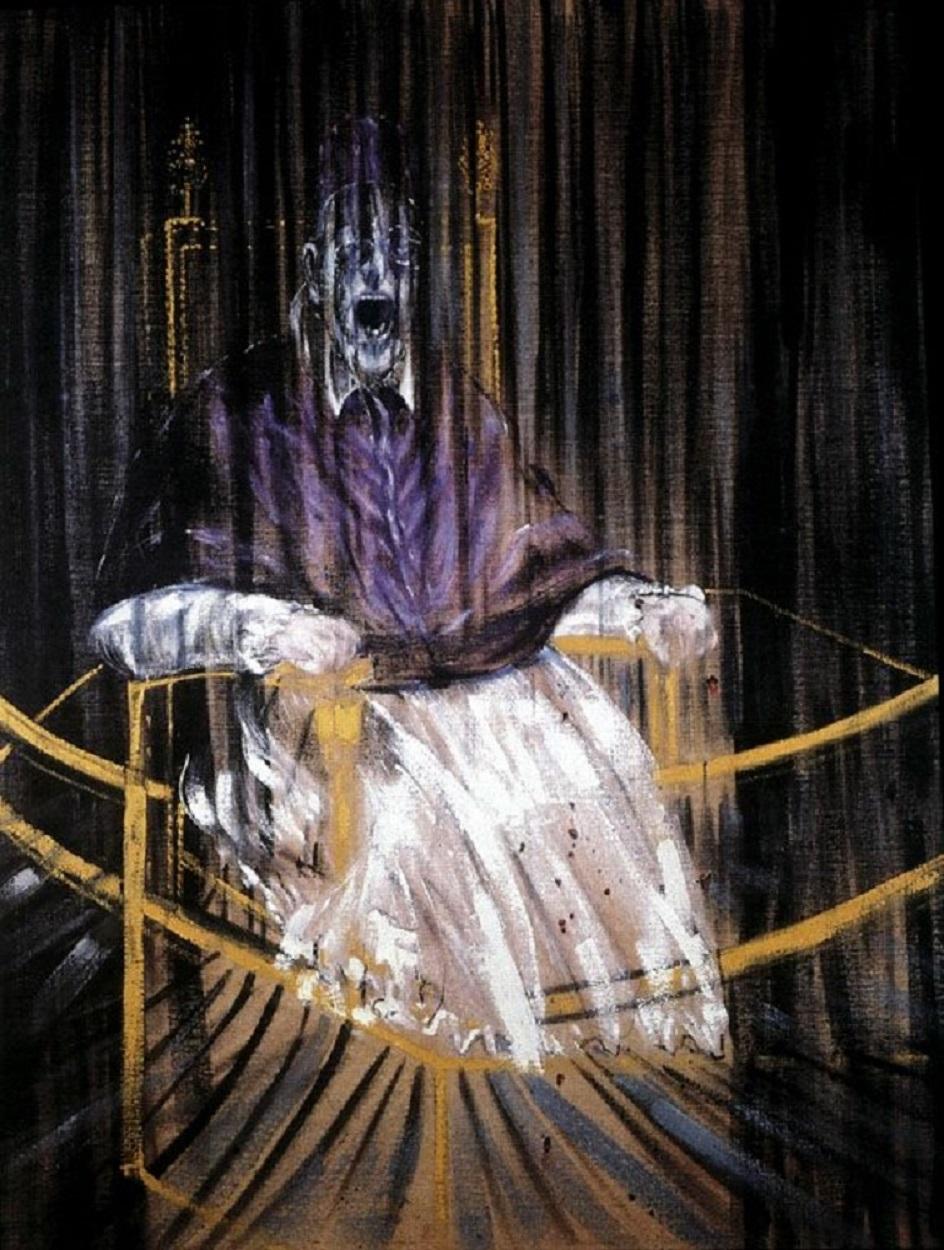 Фрэнсис Бэкон. Картина «Этюд по портрету папы Иннокентия X работы Веласкеса», 1953