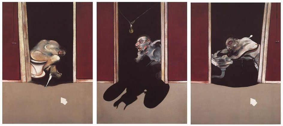 Фрэнсис Бэкон. Один из трех черных триптихов «Триптих Май-Июнь 1973 года», 1973