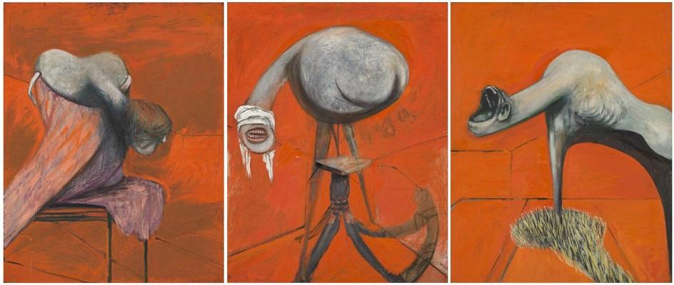 Фрэнсис Бэкон. Картина «Три штудии предстоящих Распятию», 1944