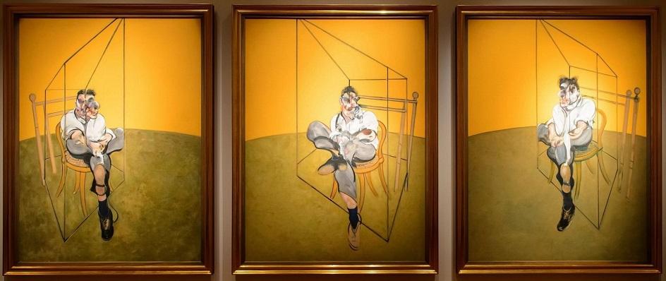 Фрэнсис Бэкон. Триптих «Наброски к портрету Люсьена Фрейда», 1969