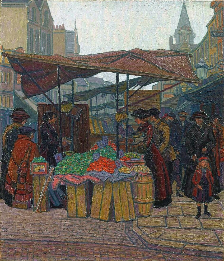 Шарль Жинне. Картина «Фруктовая лавка, Кингс Кросс», 1914