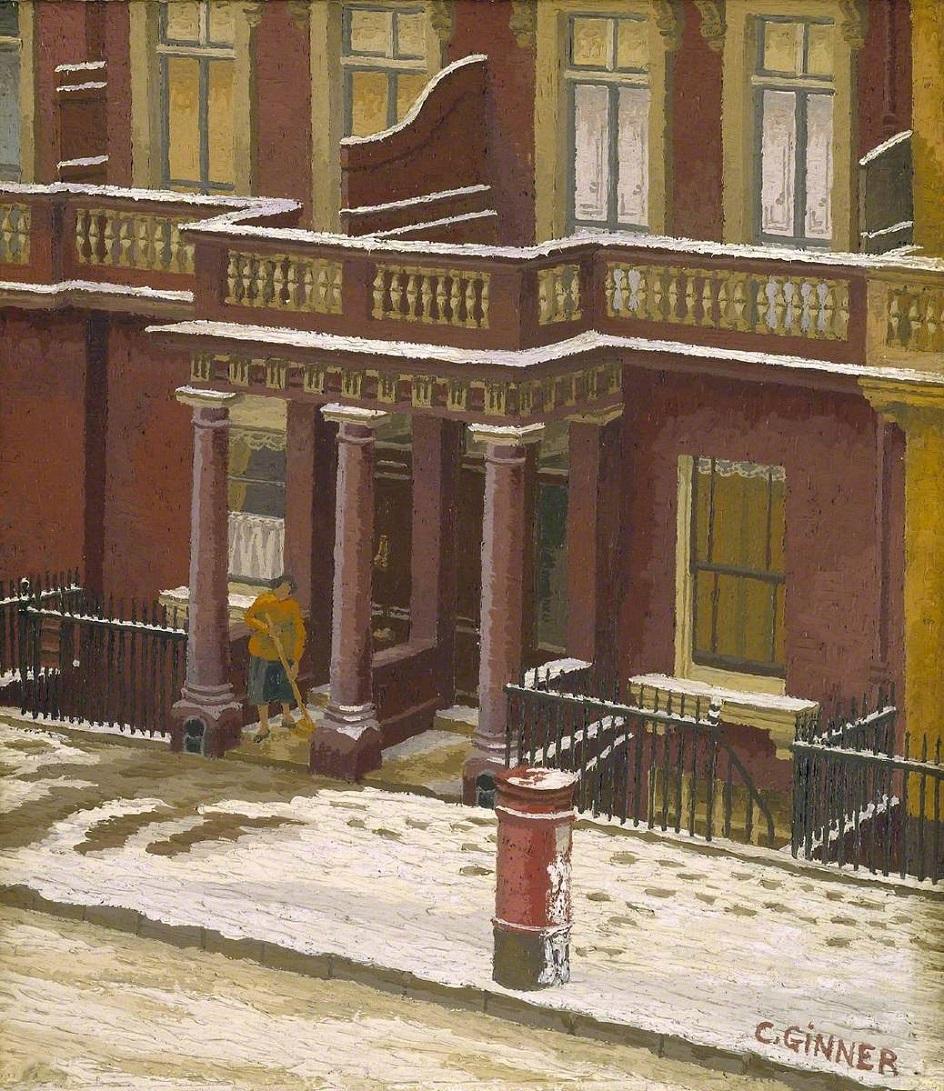 Шарль Жинне. Картина «Снег в Пимлико», 1939