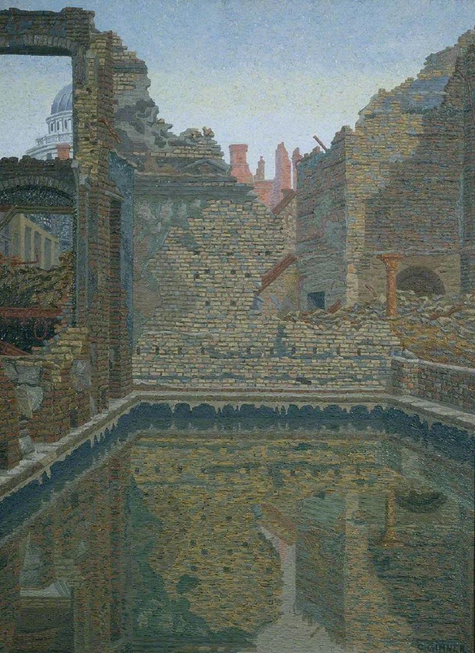 Шарль Жинне. Картина «Резервуар для аварийного хранения воды», 1942