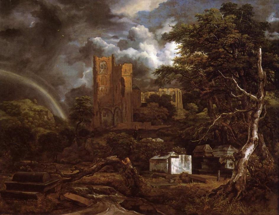 Якоб ван Рёйсдал. Картина. «Еврейское кладбище», 1660