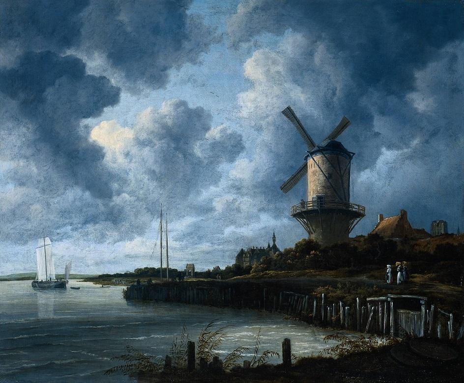 Якоб ван Рёйсдал. Картина. «Мельница в Вейке», 1660-е
