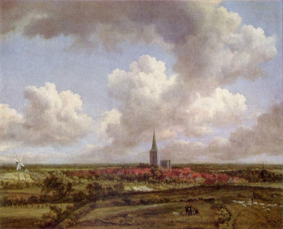 Якоб ван Рёйсдал. Картина. «Пейзаж с дюнами и кустарником», 2-я треть XVII века