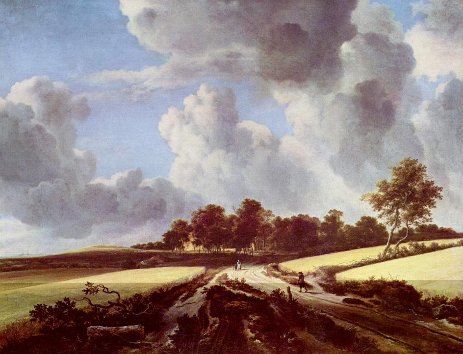 Якоб ван Рёйсдал. Картина. «Пшеничные поля», 1670